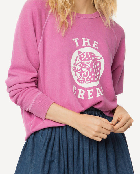 The College Sweatshirt. -- Thistle With Jaguar