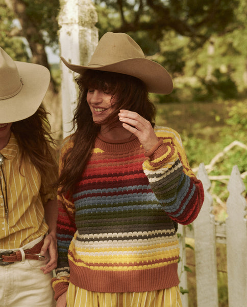 The Savanna Sweater. -- VISTA STRIPE