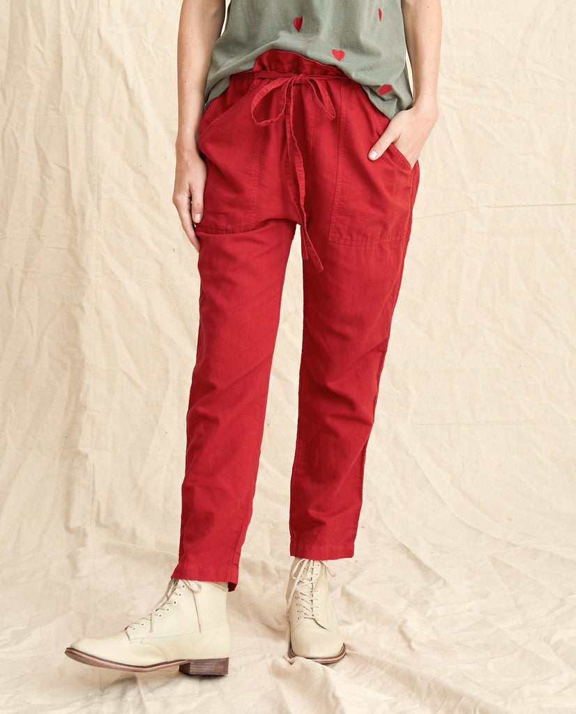 The Paper Bag Harem Pant. -- Poppy