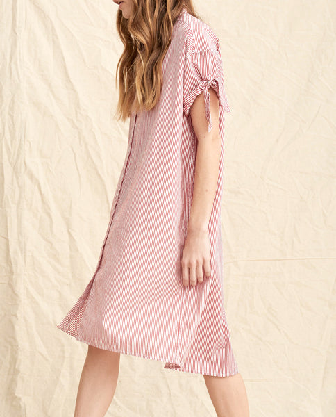 The Tie Sleeve Camper Shirt Dress. -- Poppy Dress