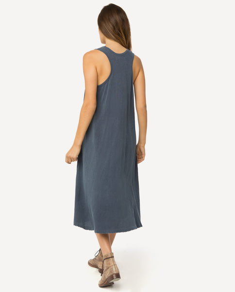 The Swing Tank Dress. -- Mottled Blue