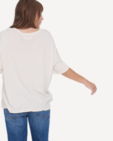 The Ruffle Sleeve Tee. The Great by Emily + Meritt.
