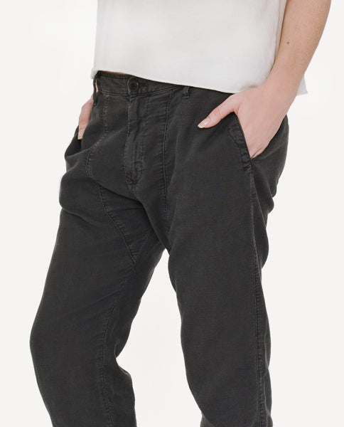The Saddle Trouser. -- Washed Black