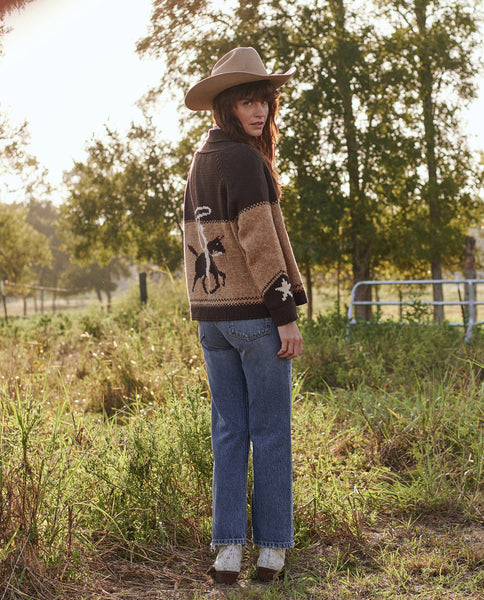 The Cowgirl Cardigan. -- RUSSET