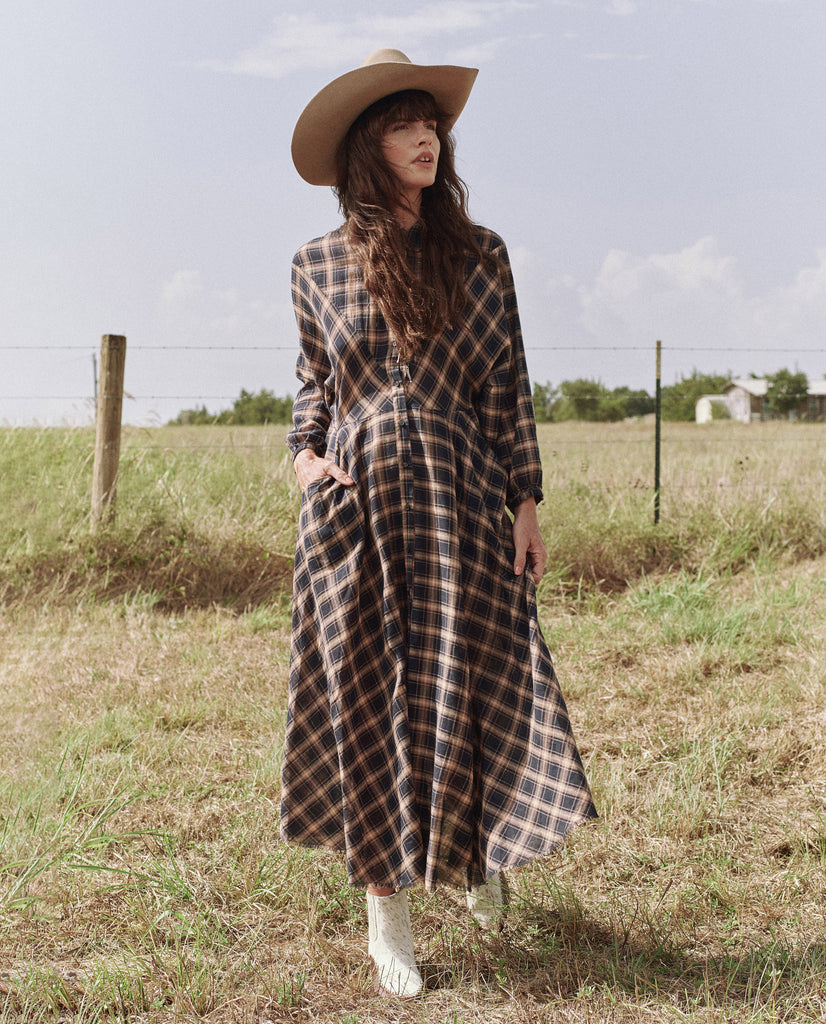 The Western Shirt Dress. -- DAKOTA PLAID
