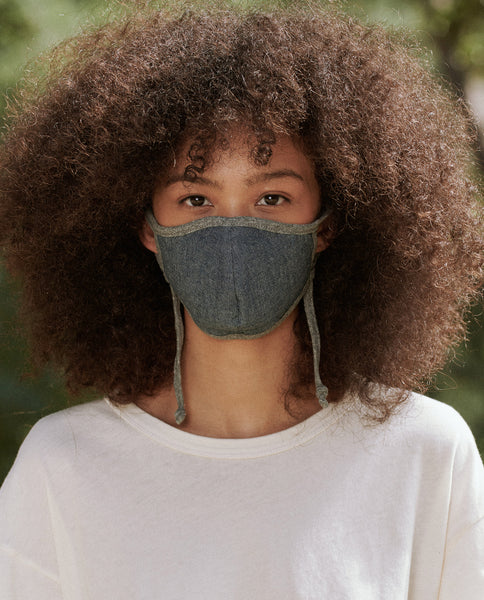 The Face Mask. -- Solid Chambray