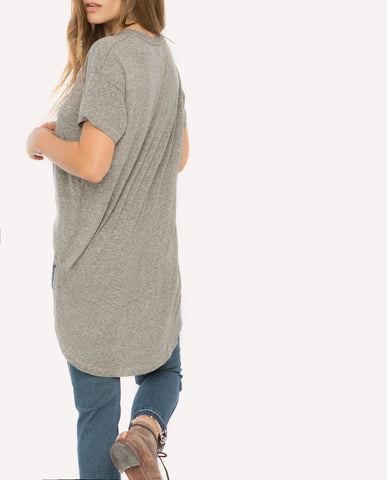 The Shirttail Tee.