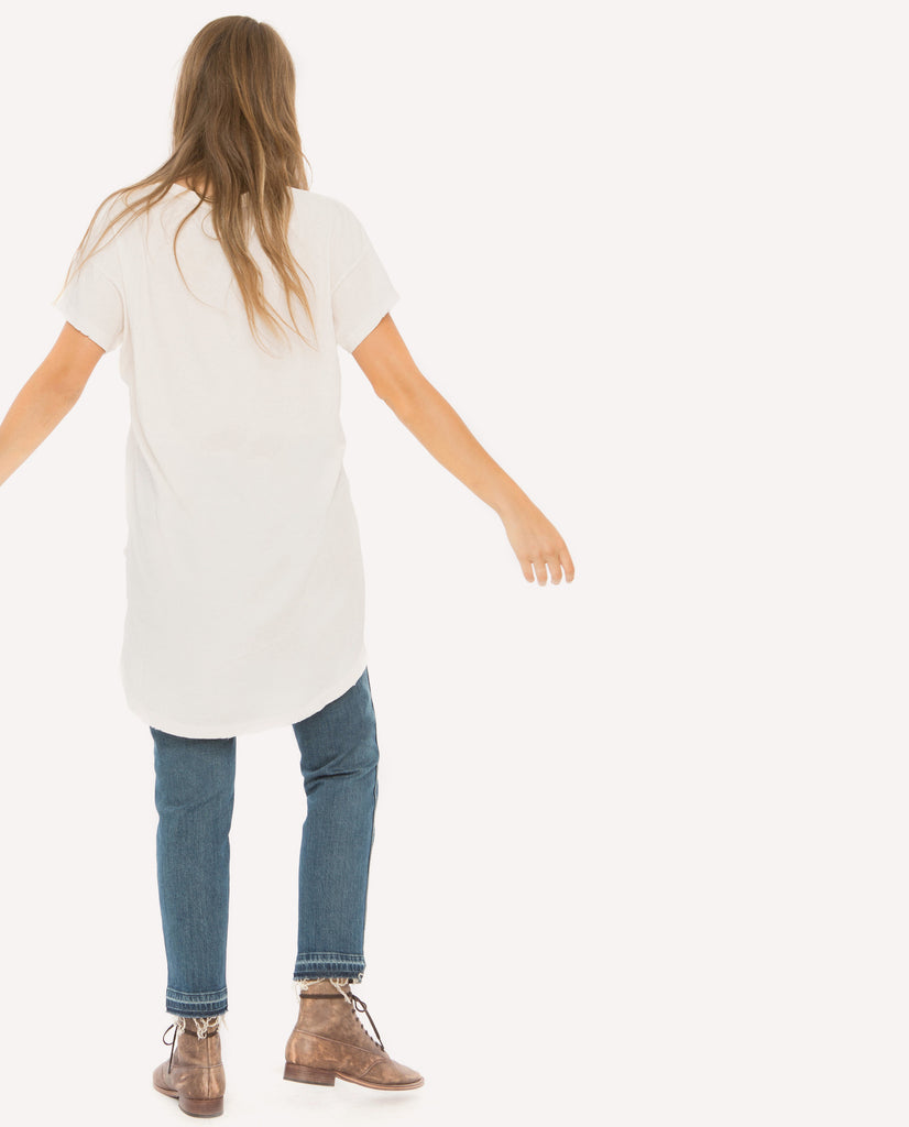 The Shirttail Tee Shirt. - THE GREAT. by Emily & Meritt