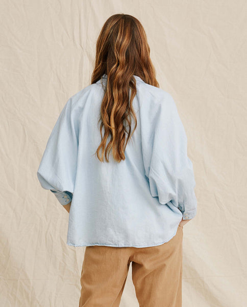 The Estate Button Up. -- Cornflower Blue