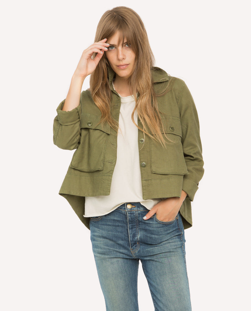 The Swingy Army Jacket. -- Beat Up Army