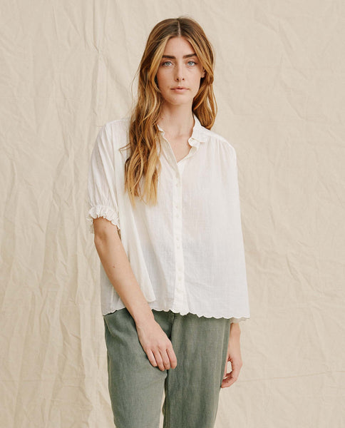 The Kerchief Blouse. -- Cream