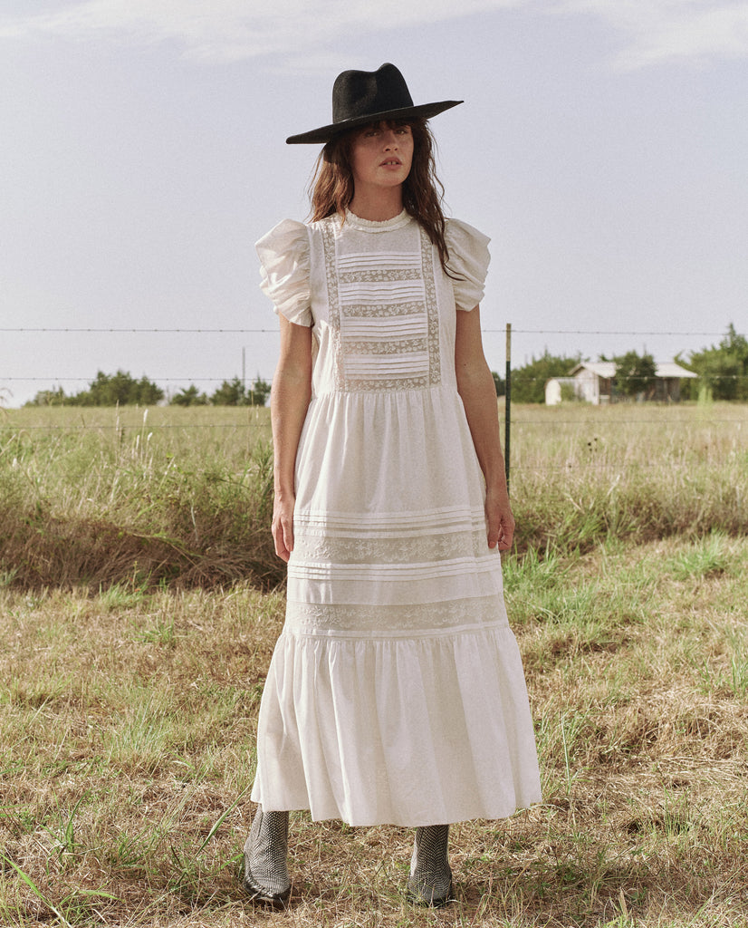 The Blackbird Dress. -- Cream