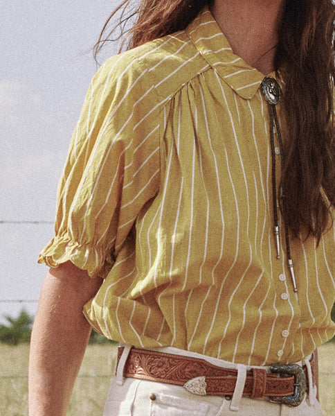 The Western Kerchief Top. -- SUNBURST STRIPE