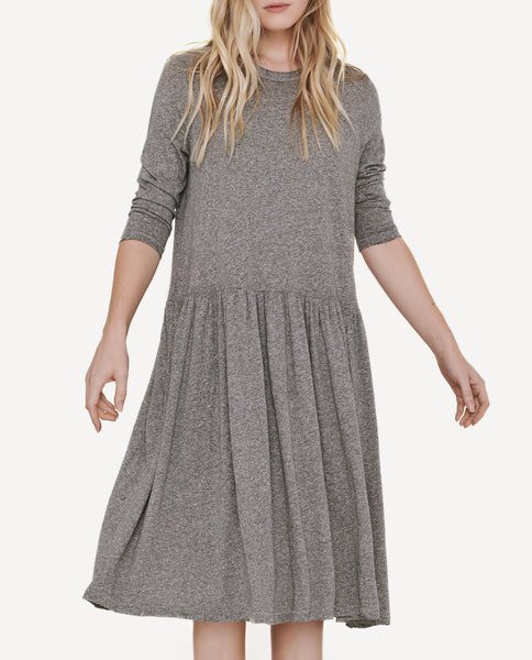 The Long Sleeve Day Dress. -- Heather Grey