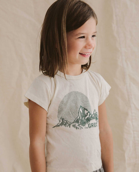 The Little Boxy Crew. -- Washed White with Mountain Graphic