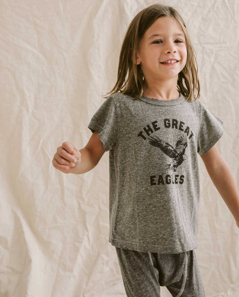 The Little Boxy Crew. -- Heather Grey with Eagle Graphic