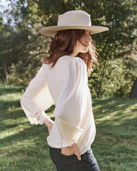 The Bell Sleeve Tee. -- Washed White