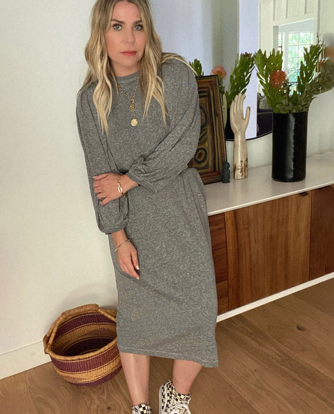The Column Dress. -- HEATHER GREY