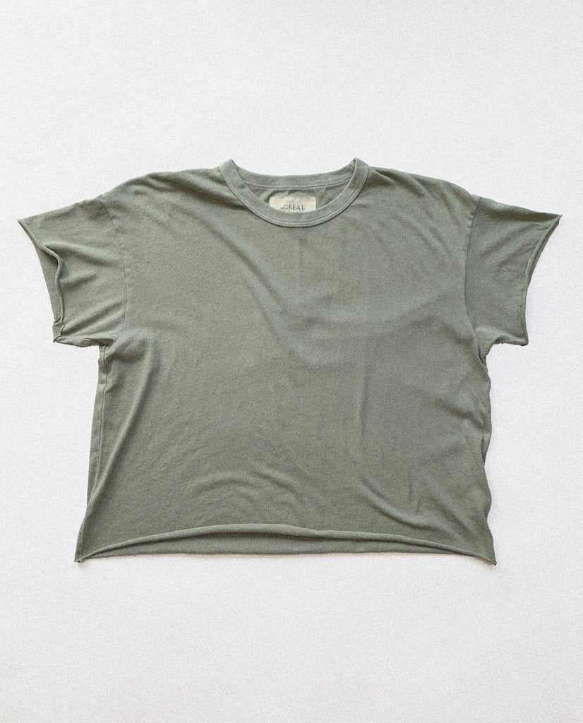 The Crop Tee. -- Washed Sage