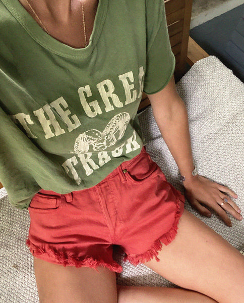 The Cut Off Short. -- Vintage Poppy Wash