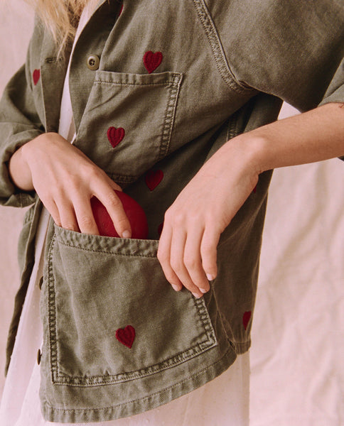 The Field Jacket. -- Moss Army With Red Hearts
