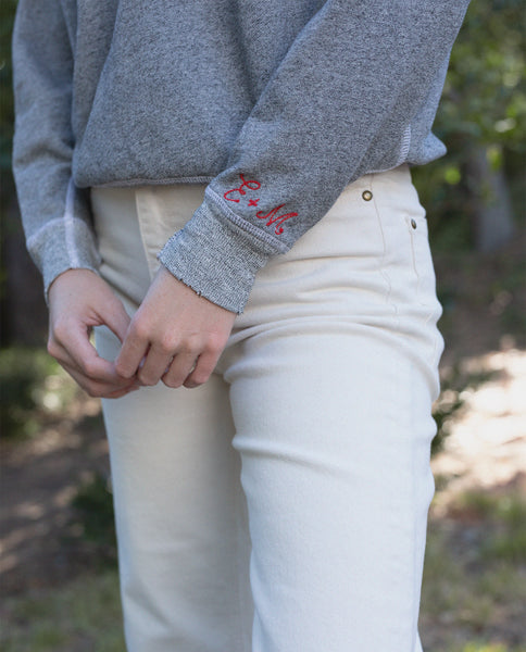 The College Sweatshirt. Solid -- Varsity Grey