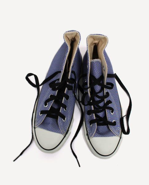 Vintage Chuck Taylor | 4.5 Men's 6.5 Women's | Blue And White Jacquard
