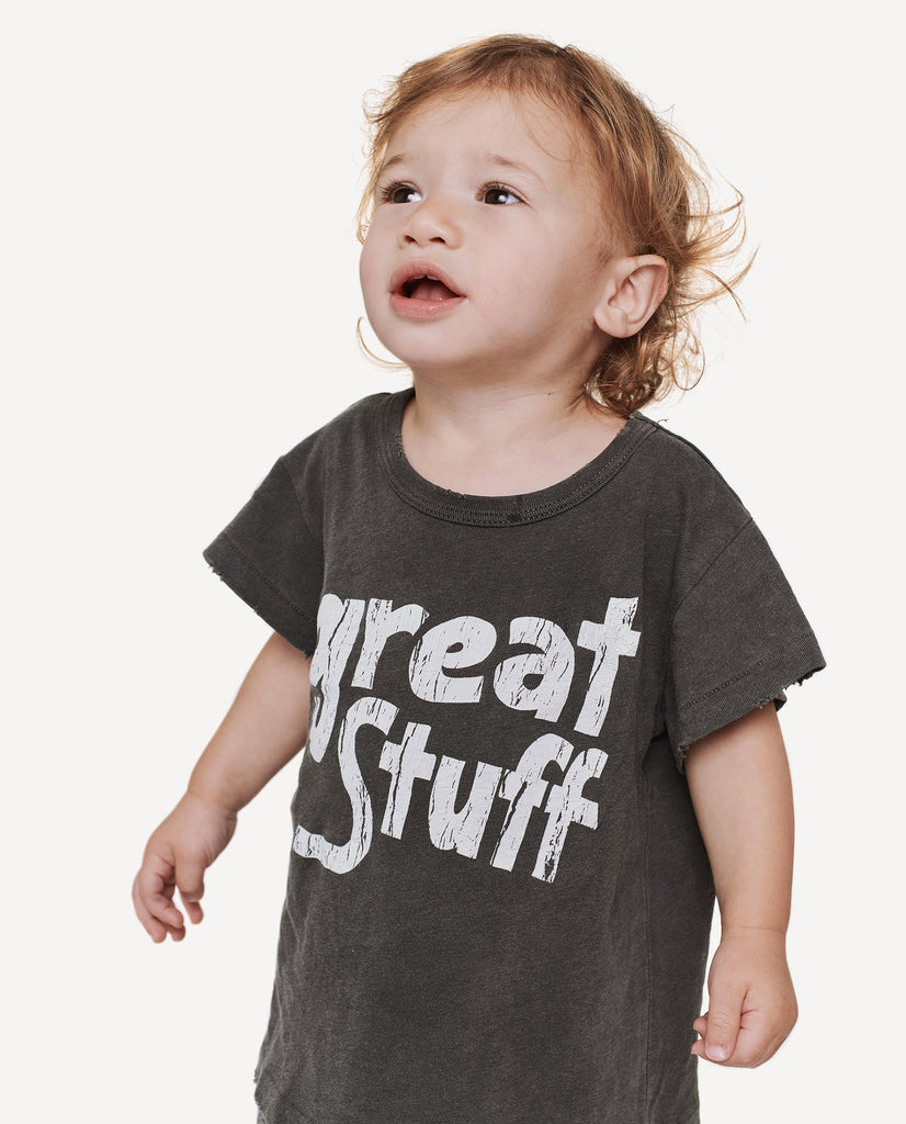 The Little Boxy Crew. -- Washed Black with Great Stuff Graphic