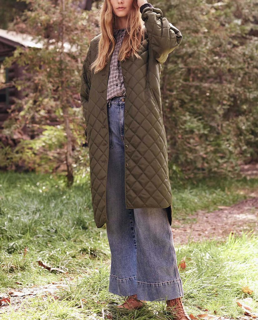 The Long Quilted Coat. -- Army