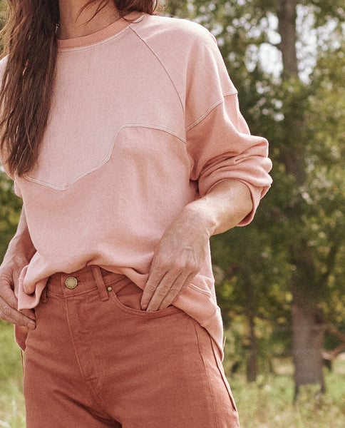 The Western Slouch Sweatshirt. -- PALE VICTORIAN ROSE