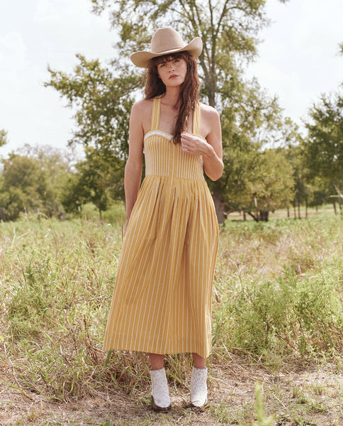 The Laurel Dress. -- SUNBURST STRIPE