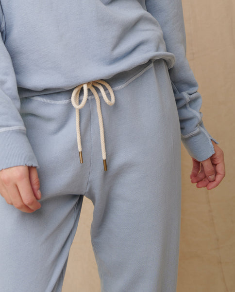 The Cropped Sweatpant. Solid -- Powder Blue