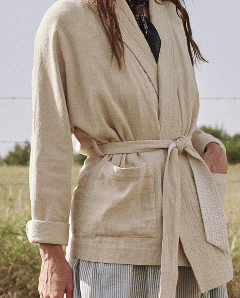 The Cabin Tie Jacket. -- Cream