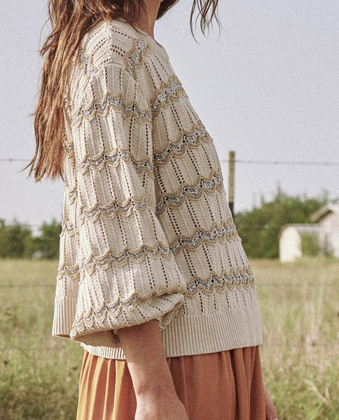 The Zig Zag Stripe Sweater. -- STONE