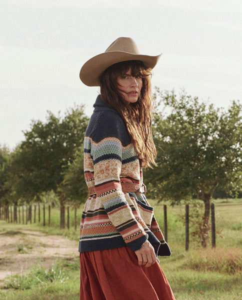 The Mountain Tie Cardigan. -- TAOS STRIPE
