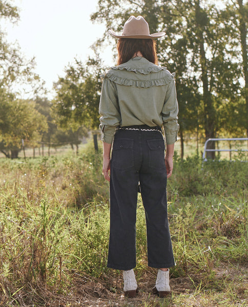 The Vintage Army Pant. -- WASHED BLACK