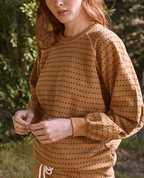 The Swiss Dot Bubble Sweatshirt. -- MONTANA GOLD