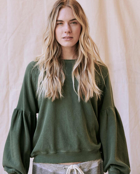 The Bishop Sleeve Sweatshirt. -- Pine