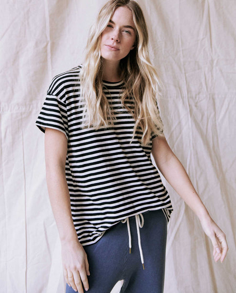The Boxy Crew. Stripe -- Black Skinny Stripe