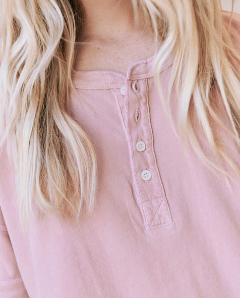 The Vintage Henley. -- Cloud Pink