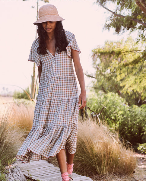 The Iris Dress. -- Meadow Plaid