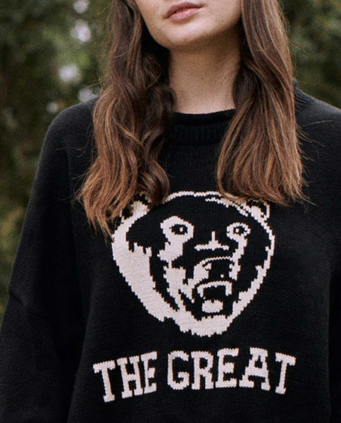 The Bear Roll Pullover. -- BLACK