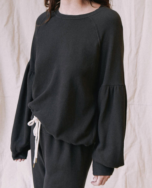 The Bishop Sleeve Sweatshirt. -- Almost Black