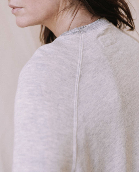 The Bishop Sleeve Sweatshirt. -- Heather Grey