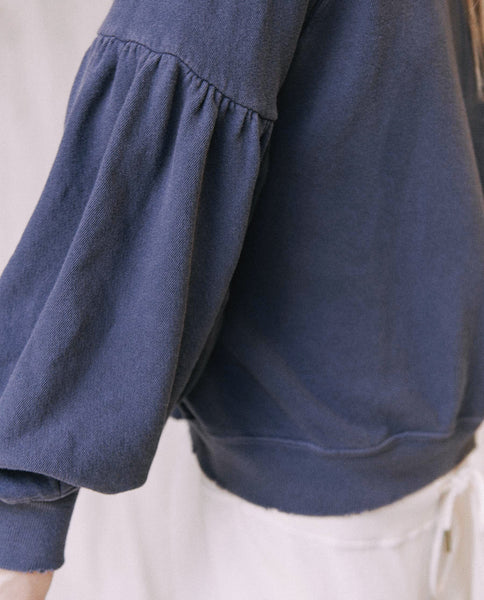 The Bishop Sleeve Sweatshirt. -- Mottled Blue