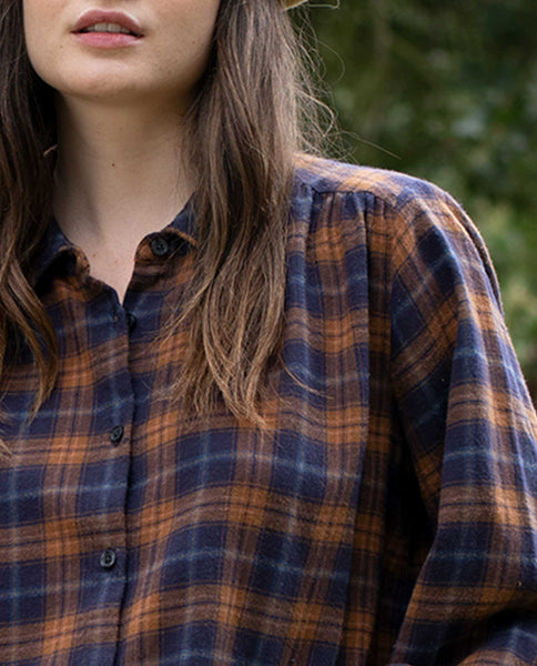 The Boudoir Button Up. -- HARVARD PLAID