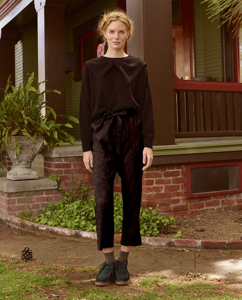 The Bow Sweater. -- BLACK