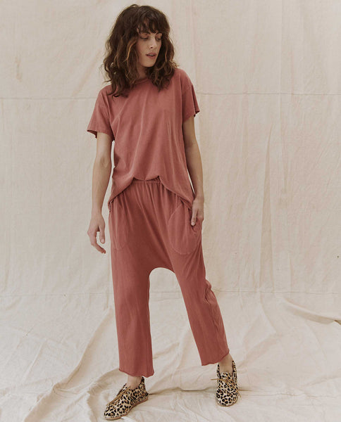 The Boxy Crew. Solid -- VINTAGE DUSTY ROSE