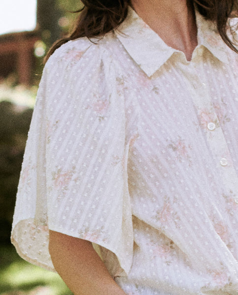 The Butterfly Button Up. -- PINK PRAIRIE FLOWER
