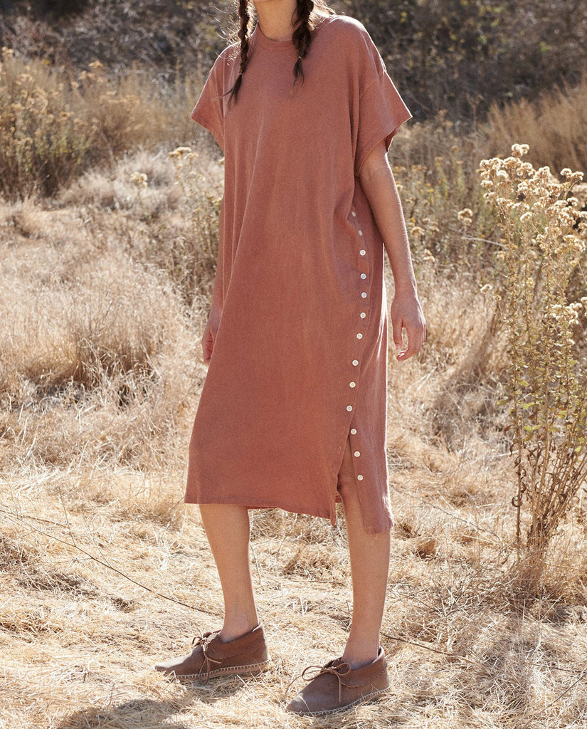 The Button Side Dress. -- RUST